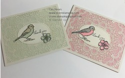 Bird ballad laser cut cards