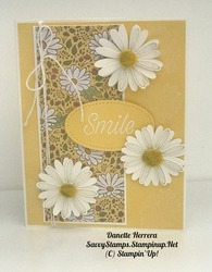 Smile  daisy lane stamp set meets ornate garden specialty designer series paper