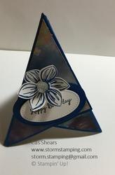 Floral essence teepee card