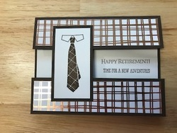Well dressed retirement card