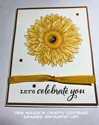 Card 4 from live   5 25 2020   stamped sunflower