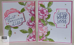 Tasteful touches split card