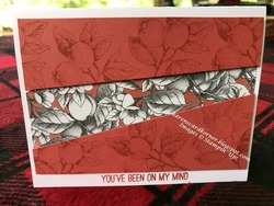 Butterfly gala botanical thinking of you card