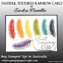 Tasteful textures rainbow card