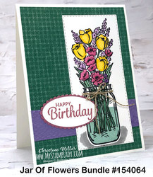 Jar of flowers bundle birthday