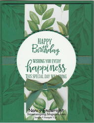 Forever fern birthday card with bow