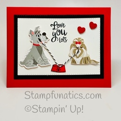Pampered pets love you card