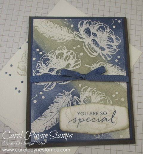 Stampin up tasteful touches emboss resist carolpaynestamps1