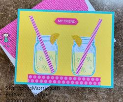 Jar of flowers lemonade