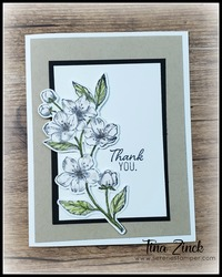 Cherry blossoms dies stampin up tina zinck