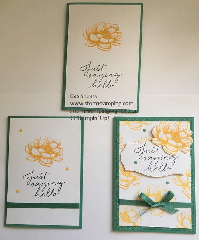 Simple stamping tasteful touches
