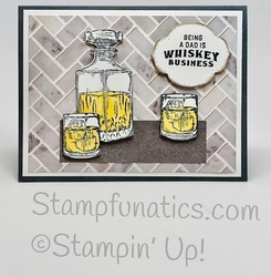 Whiskey business dad card