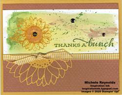 Celebrate sunflowers watercolor wash thanks watermark