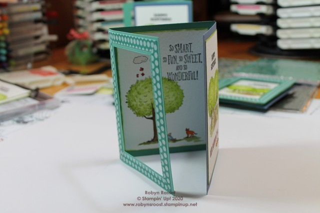 Summer days tri fold card standing 2