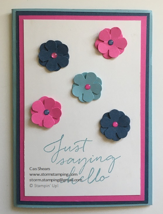 Small bloom flower card