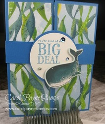 Stampin up whale done carolpaynestamps1