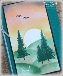 Mountain air stampin up serene stamper