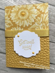Many mates sunflower get well card