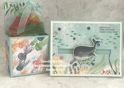 Whale of a time treat box   card
