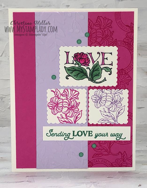 Magenta love postage