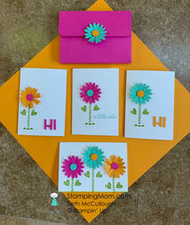 Bright   happy daisy notecard set