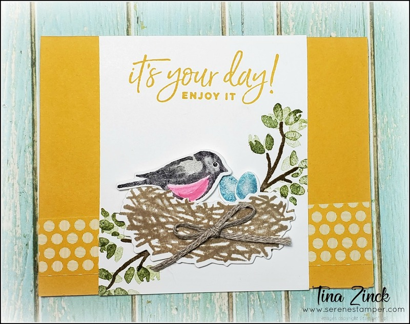 Birds and branches stampin up tina zinck