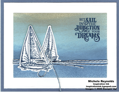 Sailing home set sail sea watermark