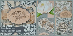 June tutorial  peony garden suite