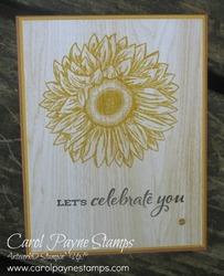Stampin up celebrate sunflowers carolpaynestamps1