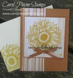 Stampin up celebrate sunflowers carolpaynestamps1 1