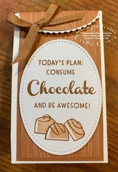 Consume chocolate cardstock bag