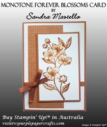 Monotone forever blossoms card