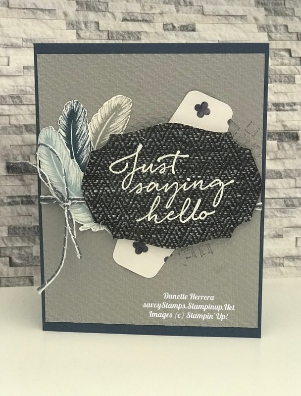 This card is all about texture with the in good taste suite