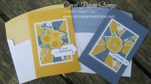 Stampin up sunburst sunflower carolpaynestamps1