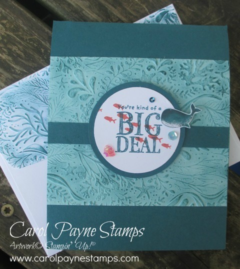 Stampin up whale done pop up carolpaynestamps1