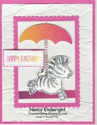 Zany zebra   rainbow glimmer paper