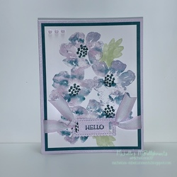 Hello blooms card