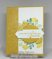 Lovely you miles apart card