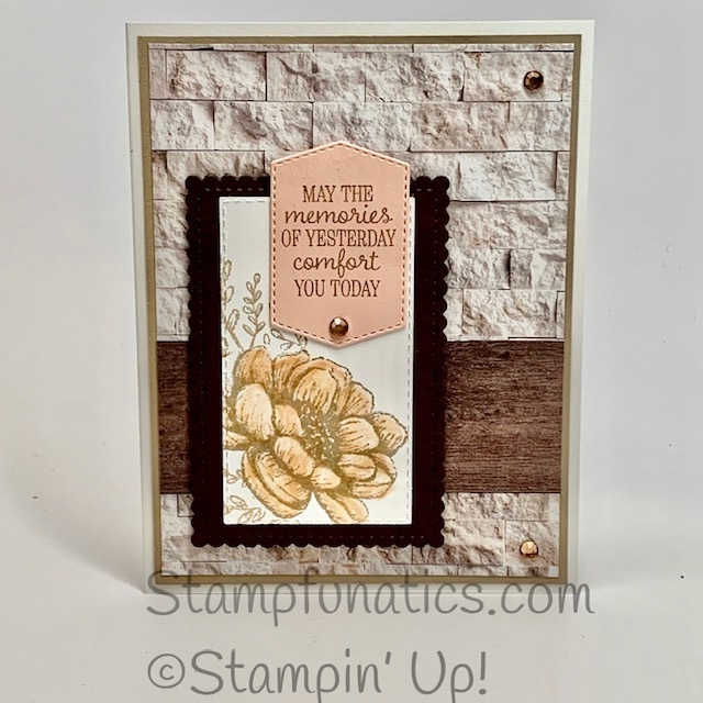 Tasteful touches sympathy card