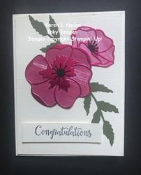 Poppy wedding card