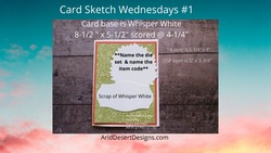Card sketch wednesdays  1 yt