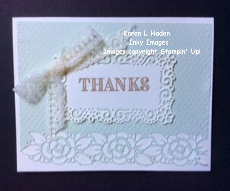 Ornate thanks card