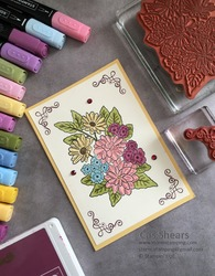 Colourful ornate garden