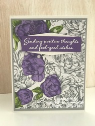 A simple card created with the peony garden designer series paper