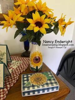 Celebrate sunflowers   paper pumpkin box