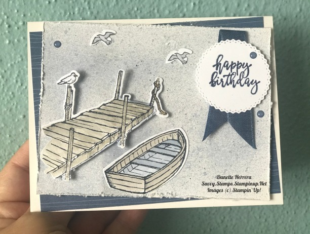 Happy birthday  by the dock stamp set