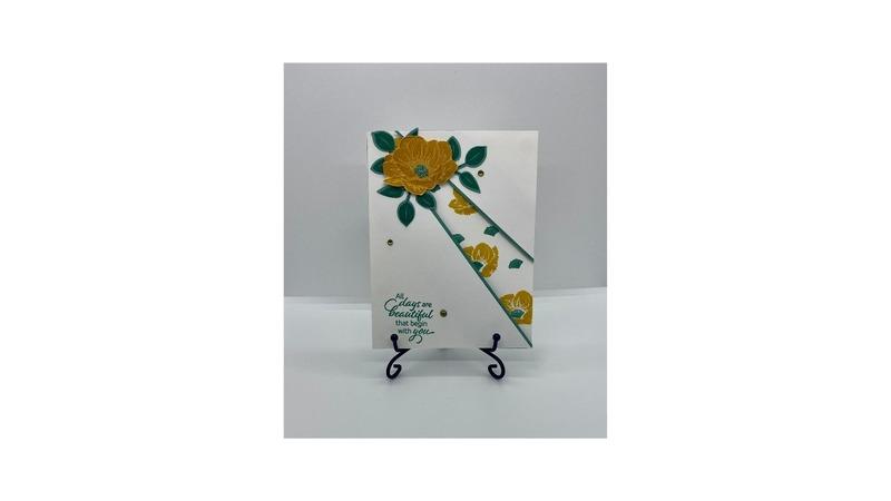 Lovely diagonal card