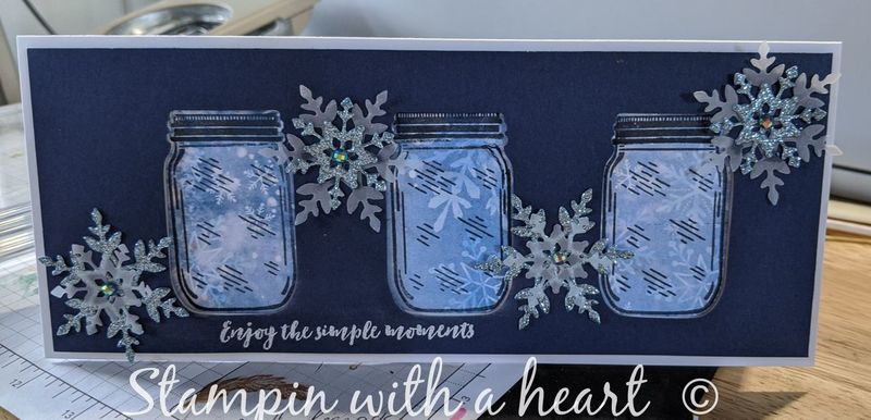 Jar punch with snowflake wishes dies