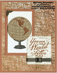 Beautiful world antique globe watermark