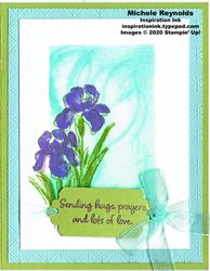 Inspiring iris sponged sympathy watermark